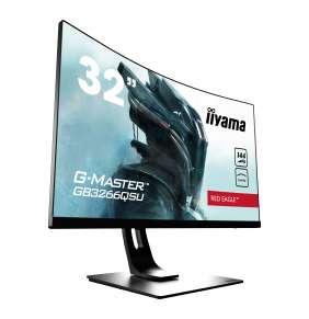 """32"""" iiyama G-Master GB3266QSU-B1: VA, WQHD@144Hz, 400cd/m2, 1ms, HDMI, DP, USB, FreeSync, height"""