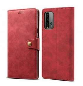 Lenuo Leather pro Xiaomi Redmi 9T, červené