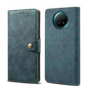 Lenuo Leather pro Xiaomi Redmi Note 9T, modré