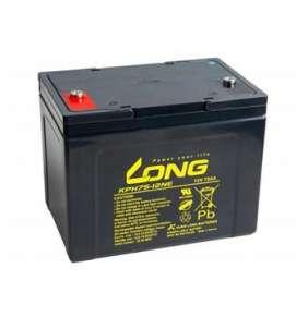 Long 12V 75Ah olověný akumulátor Deep Cycle AGM F8 (KPH75-12N)