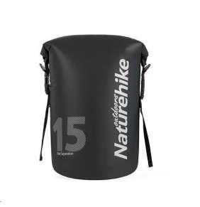 Naturehike vodotěsný batoh 250D 15l 520g - černý