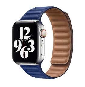 COTEetCI Double Suction kožený pásek pro Apple Watch 42 / 44mm tmavě modrá