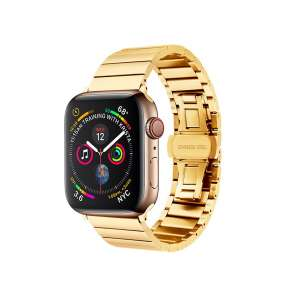 COTEetCI ocelový pásek pro Apple Watch 42 / 44mm zlatá