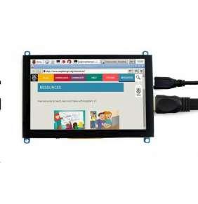"Waveshare 5"" dotykový LCD (H) displej, TFT, 800x480, kapacitní, HDMI, USB"