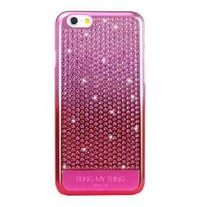 Swarovski kryt Vogue Cascade pre iPhone 6/6s - Brilliant Pink