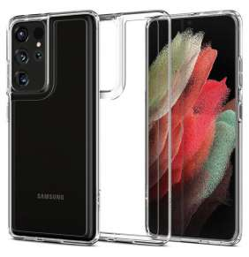 Ochranný kryt Spigen Ultra Hybrid pro Samsung Galaxy S21 ultra transparentní