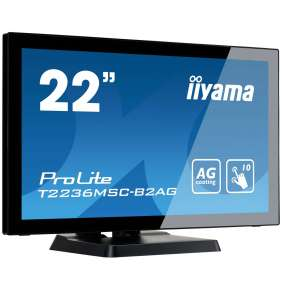 "22"" LCD iiyama T2236MSC-B2AG - multidotekový, FullHD, AMVA, kapacitní, USB"