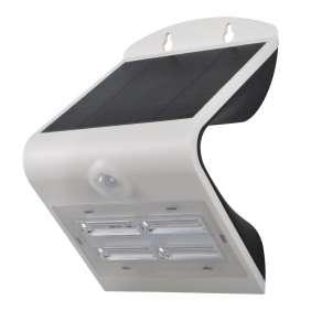 IMMAX venkovní solární LED osvětlení s čidlem/ 3,2W/ 4000-4500K/ 400lm/ IP65/ bílé