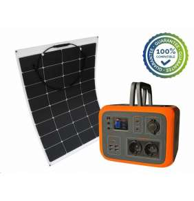 Viking bateriový generátor AC600, 600W, oranžová + solární panel LE100