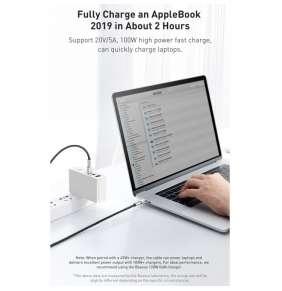 Baseus Cafule Series nabíjecí / datový kabel USB-C samec na USB-C samec s kovovými koncovkami 100W 2m, černá