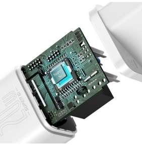 Baseus Super SI set adaptéru USB-C 20W a kabelu USB-C do Lightning 1m, bílá