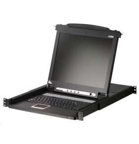 "ATEN 16-port KVM PS/2+USB, OSD, rack, 17"" LCD, touchpad, klávesnice"