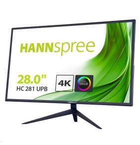 "Hannspree HC281UPB 28"" LCD monitor, 4K UHD 3840x2160, 16:9, 5ms, HDMI, 2x DP"