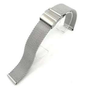 Deveroux - Ocelový řemínek WD021, easy click - Stříbrný - 20 mm