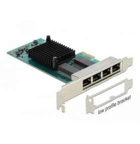 Delock PCI Express karta na 4 x Gigabit LAN