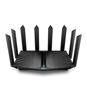 """TP-LINK """"AX6600 Tri-Band Wi-Fi 6 RouterSPEED: 574 Mbps at 2.4 GHz + 1201 Mbps at 5 GHz_1 + 4804 Mbps at 5 GHz_2SPEC: 8"""
