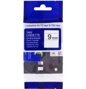 PRINTLINE kompatibilní páska s Brother TZE-122, 9mm x 8m, červený tisk / průsvitný podklad