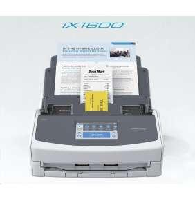 FUJITSU skener ScanSnap iX1600, A4, 40ppm, 600dpi, ADF 50listů, WIFI , LCD,  - vizitky, účtenky, dokumenty - DUALSKEN
