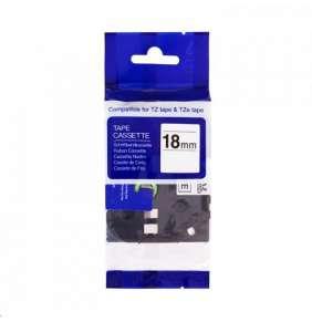 PRINTLINE kompatibilní páska s Brother, HG-241, 18mm, černý tisk/bílý podklad, rychlý tisk