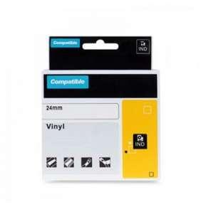 PRINTLINE kompatibilní páska s DYMO 1805432, 24mm, 5.5m, bílý tisk/černý p, RHINO, vinyl.
