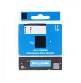 PRINTLINE kompatibilní páska s DYMO,53717, S0720970,24mm,7m, černý tisk/červený podkl.,D1