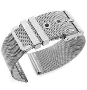 Deveroux - Ocelový řemínek WD026, spona - Stříbrný - 20 mm