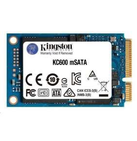 Kingston SSD 1024GB KC600 SATA3 mSATA (R:550, W:500MB/s)