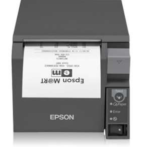EPSON pokl.termo TM-T70II,tmavá, WiFi, USB, zdroj