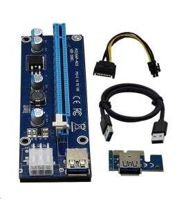 C-TECH riser karta RC-PCIEX-01C pro těžbu kryptoměn
