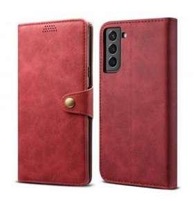 Lenuo Leather pro Samsung Galaxy S21 5G, červené