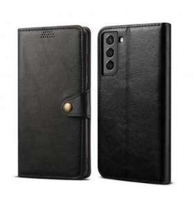 Lenuo Leather pro Samsung Galaxy S21 5G, černé