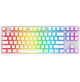 SPC Gear klávesnice GK630K Onyx white Tournament  / mechanická / Kailh Blue / RGB / kompaktní / US layout / bílá