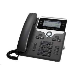 Cisco CP-7841-3PCC-K9 , VoIP telefon, 4line, 2x10/100/1000, displej, PoE - REFRESH