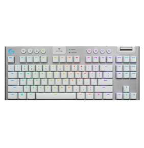 Logitech® G915 TKL Tenkeyless LIGHTSPEED Wireless RGB Mechanical Gaming Keyboard - Tactile - WHITE - US INT'L
