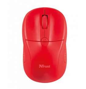 TRUST Myš Primo Wireless Mouse - červená, USB, bezdrátová