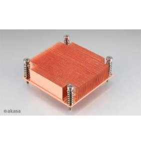 AKASA chladič CPU AK-CC7111 pro Intel  LGA 775 a 1156, měděné jádro, pasivní, pro 1U skříně