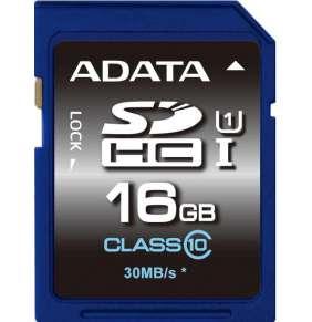 ADATA SDHC UHS-1 karta 16GB Class 10 (až 30MB/s)