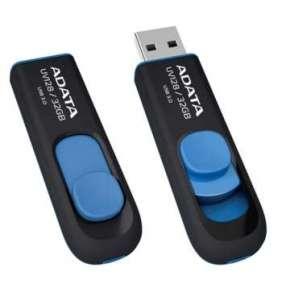 ADATA Flash Disk 32GB UV128, USB 3.1 Dash Drive (R:40/W:25 MB/s) černá/modrá
