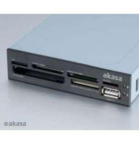 """AKASA interní čtečka do 3,5"""" pozice / AK-ICR-07 / SD / USB2.0 / černá nebo bílá (obě čela v balení)"""
