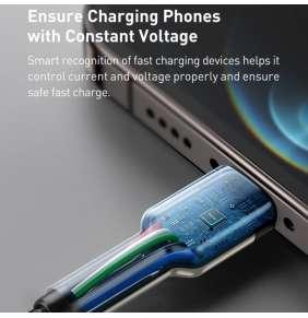 Basesu Cafule Series nabíjecí / datový kabel USB-C na Lightning PD 20W 1m, černá