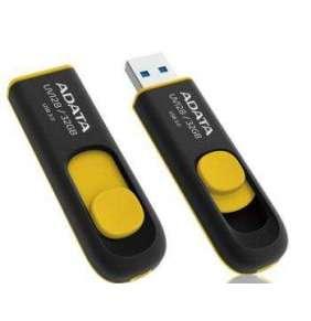 ADATA Flash Disk 32GB UV128, USB 3.1 Dash Drive (R:40/W:25 MB/s) černá/žlutá