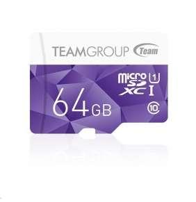 TEAM MicroSDXC karta 64GB Color Card UHS-I U1 + SD adapter