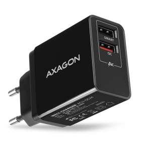 AXAGON ACU-QS24 wall charger Smart 5V 1,2A + 1x QC3.0, 24W, black