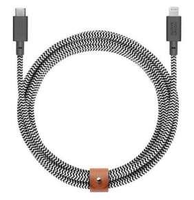 Native Union kábel Belt Cable USB-C to Lightning 3m - Zebra
