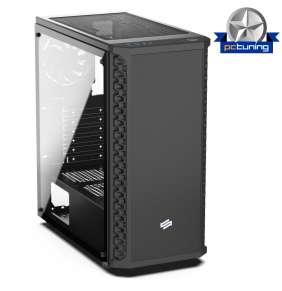 SilentiumPC skříň MidT Signum SG1M TG / 2x USB 3.0 / 2x 120mm fan / bočnice z tvrzeného skla/ černá