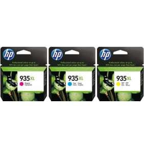 HP 935XL CMY Ink Cartridge OVP Pack, 3 x 825str, F6U78AE