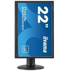 """22""""LCD iiyama B2280WSD-B1 - 5ms, 250cd/m2, 16:10, 1000:1, VGA, DVI, repro, pivot, výšk.nastav.,černý"""