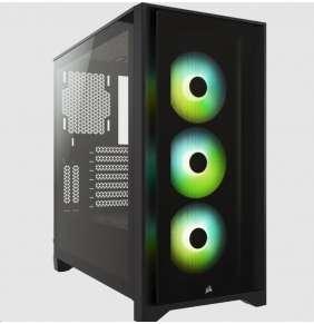 CORSAIR case iCUE 4000X RGB, Mid-Tower, ATX Case, RGB, průhledná bočnice, bez zdroje, černá