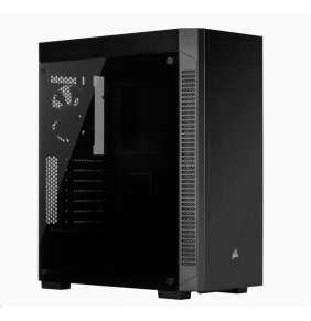 CORSAIR case 110R Tempered Glas, Mid-Tower Gaming, černá, průhledná bočnice, bez zdroje