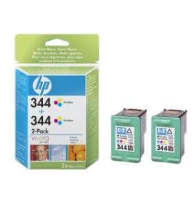 HP 344, atramentová náplň pre HP Photosmart 8450, 2710, HP Deskjet 6840, Tri-color, 2-pack